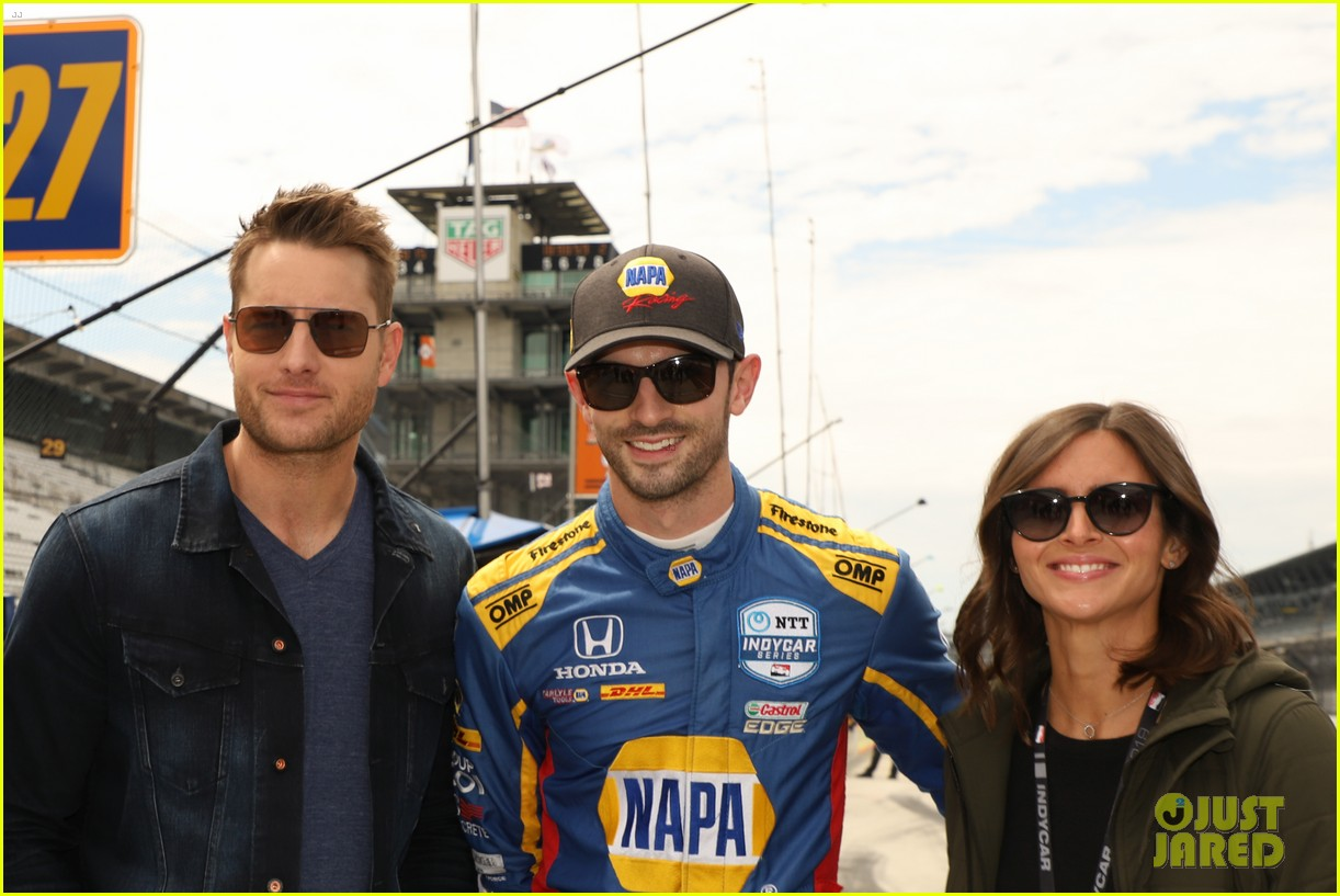 justin hartley serves as honorary starter at indycar grand prix 07