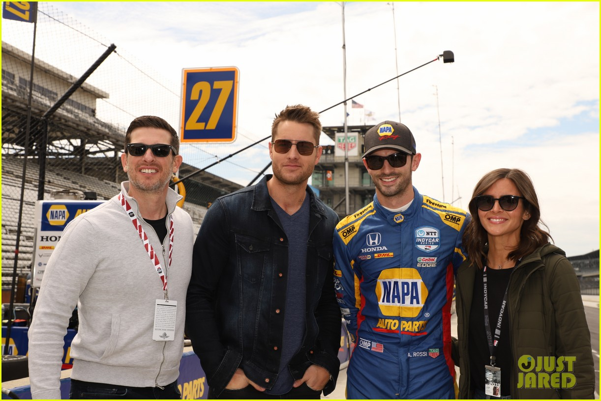 justin hartley serves as honorary starter at indycar grand prix 08