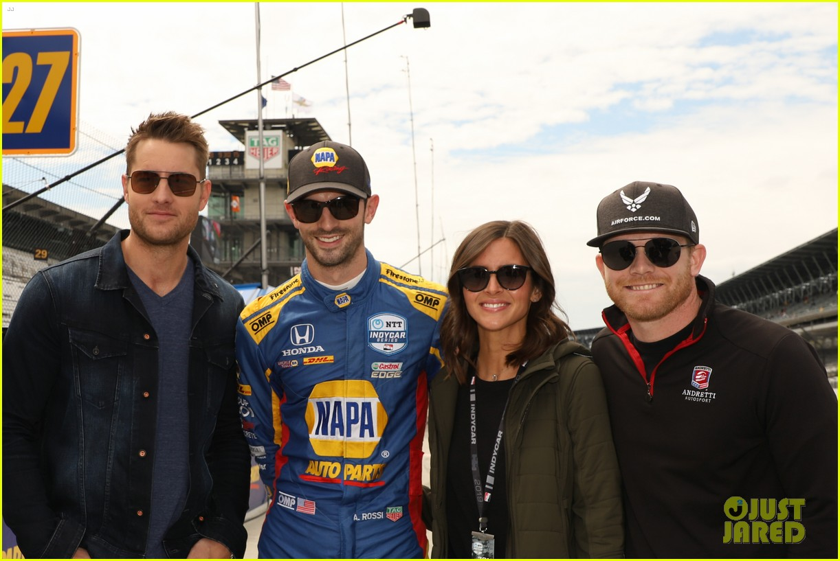justin hartley serves as honorary starter at indycar grand prix 10