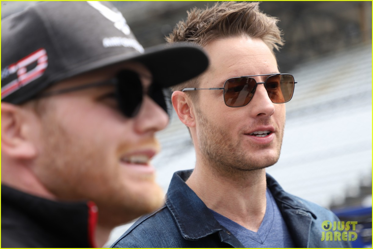 justin hartley serves as honorary starter at indycar grand prix 11