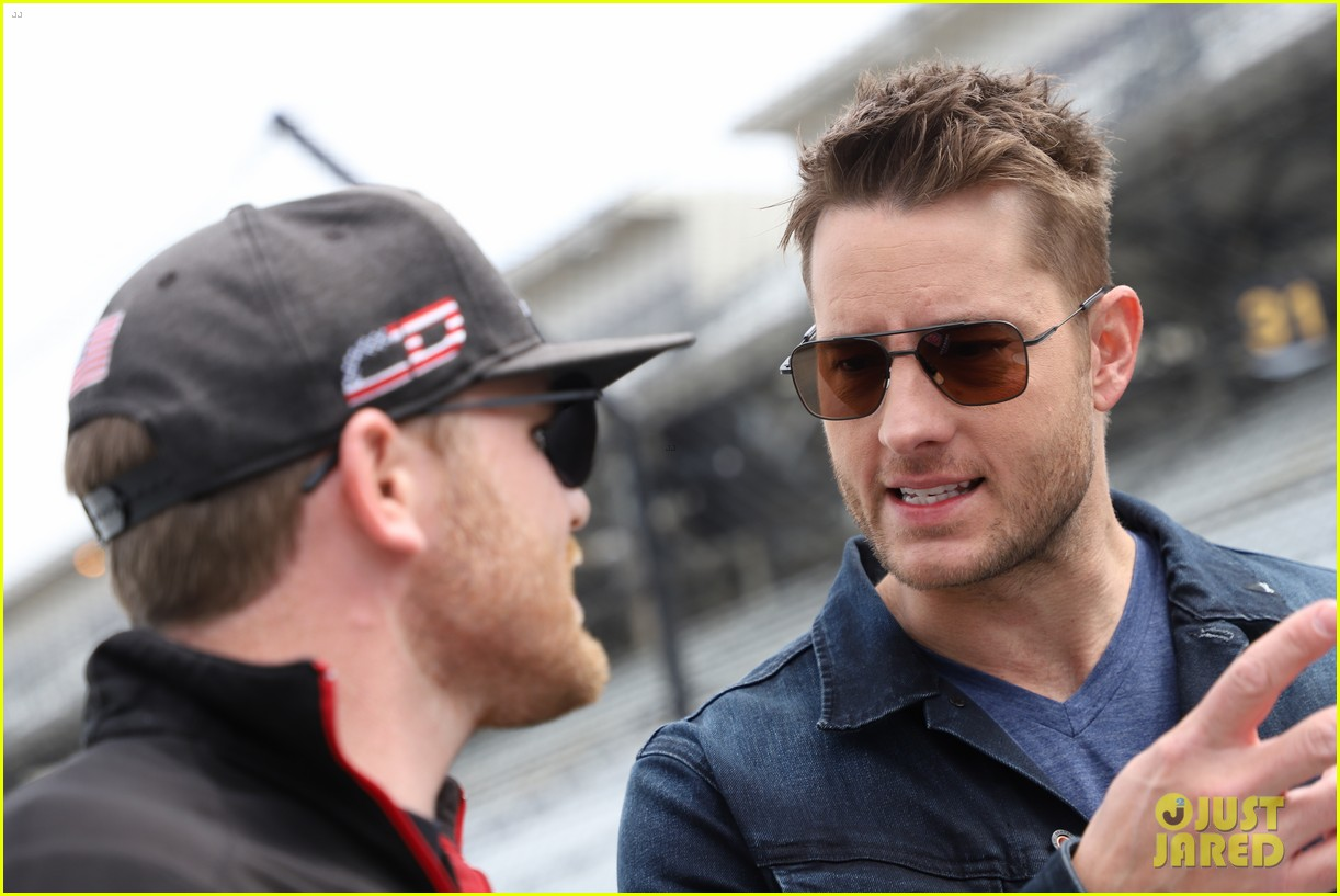 justin hartley serves as honorary starter at indycar grand prix 13