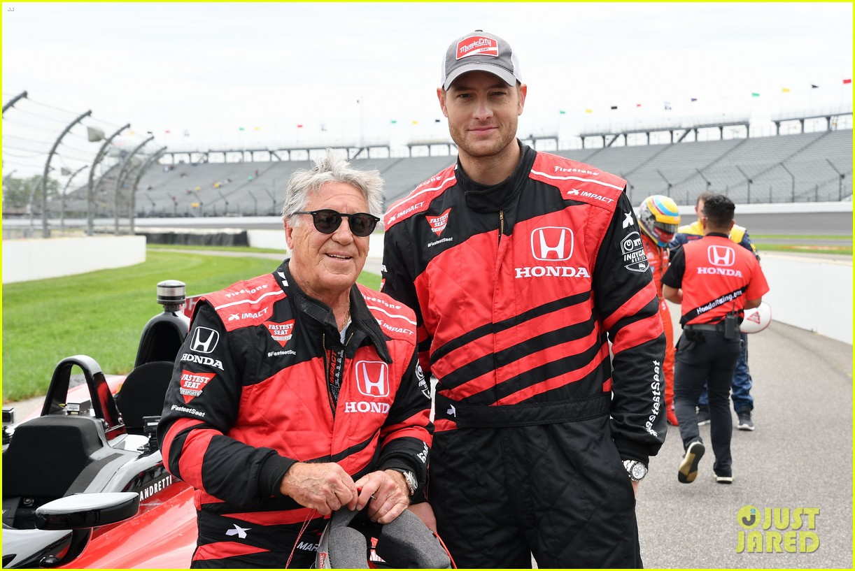 justin hartley serves as honorary starter at indycar grand prix 20