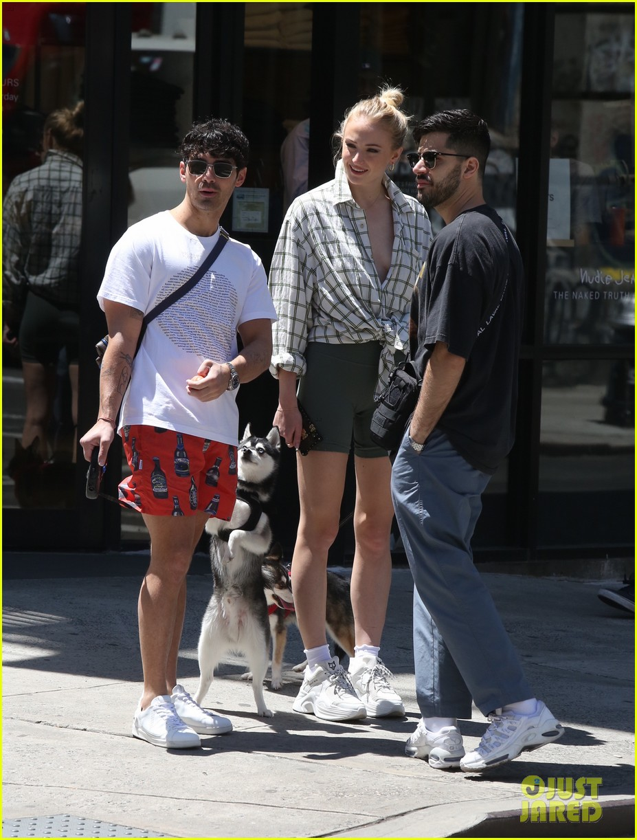 joe jonas sophie turner take their dogs for a walk in nyc 03