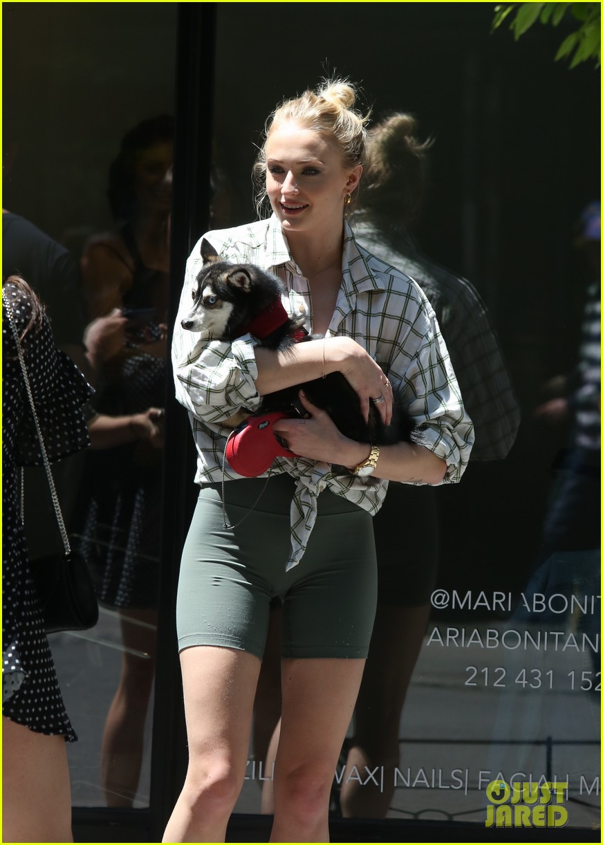 joe jonas sophie turner take their dogs for a walk in nyc 06
