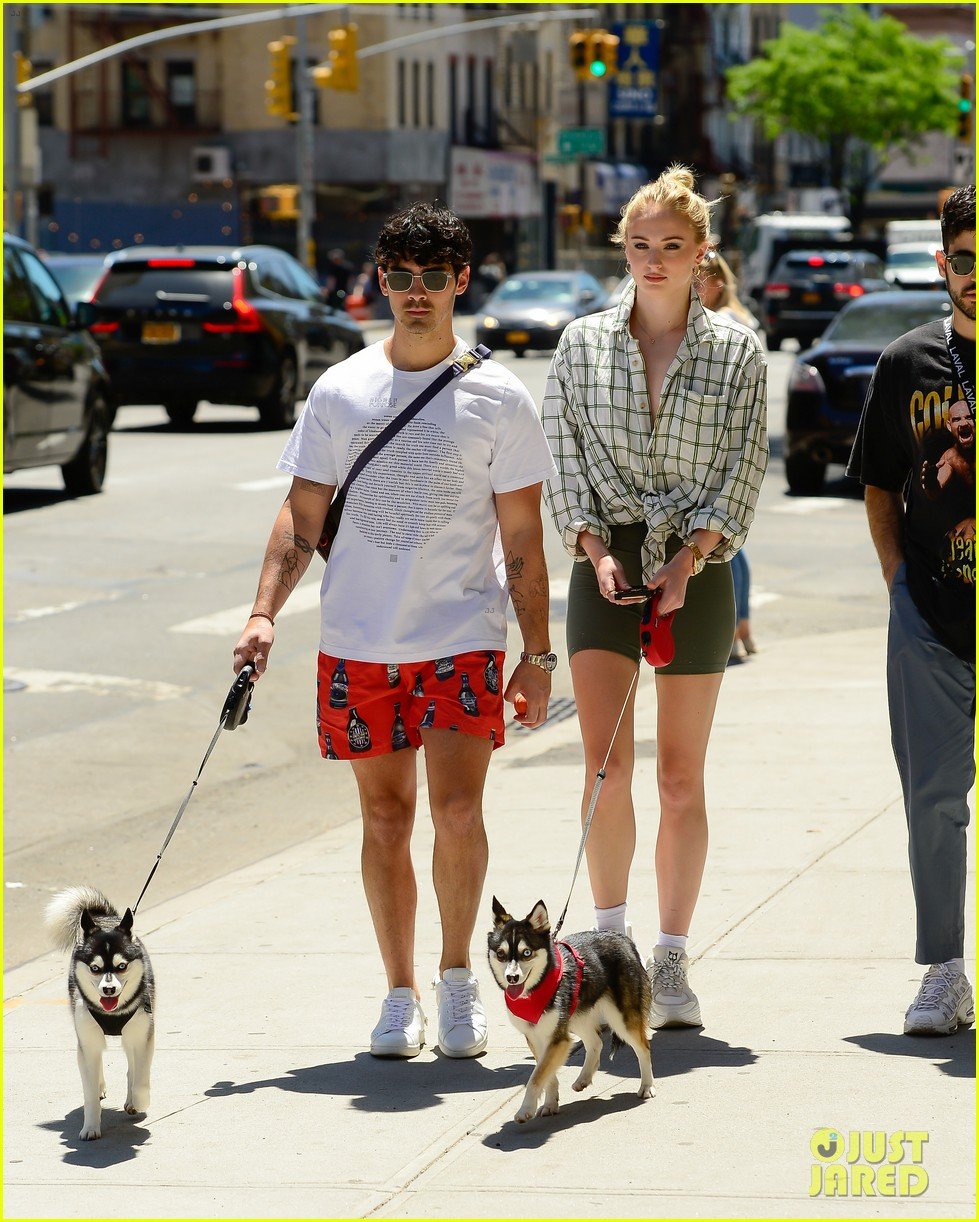 joe jonas sophie turner take their dogs for a walk in nyc 07
