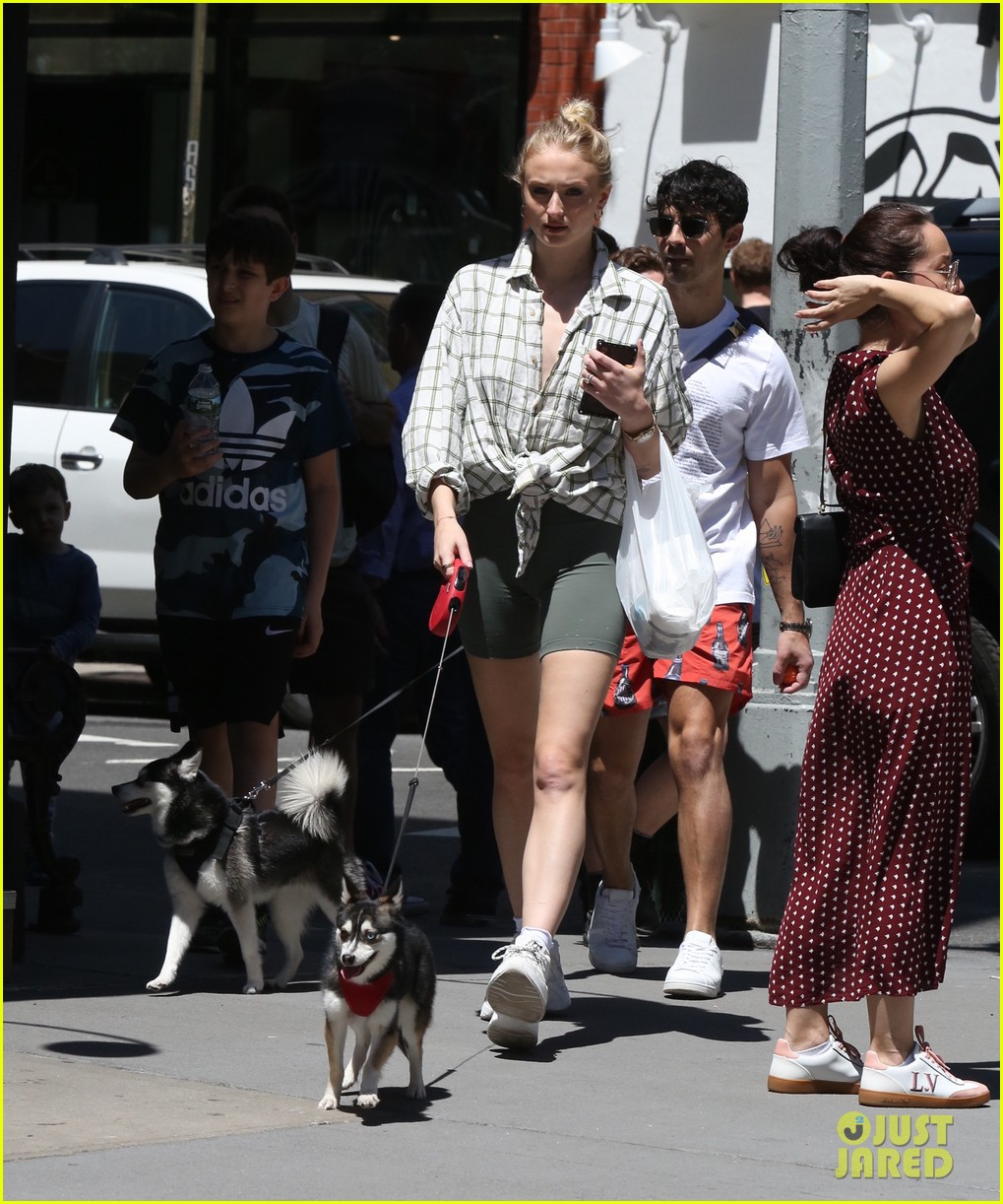 joe jonas sophie turner take their dogs for a walk in nyc 09