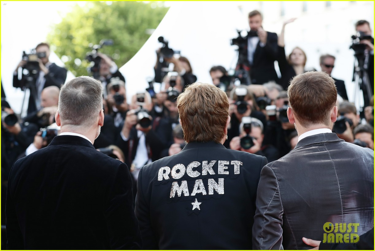 elton john taron egerton rocketman cast celebrate premiere at cannes 2019 044292422