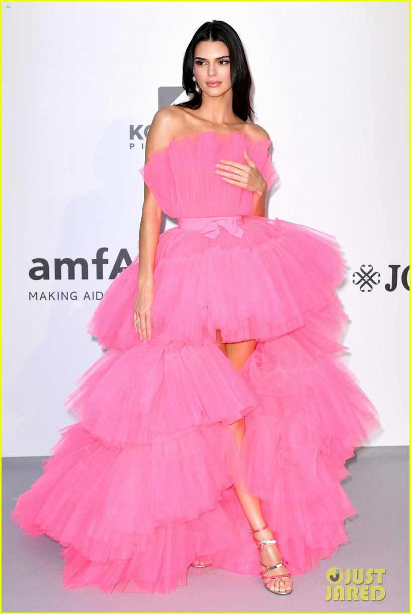 kendall jenner poofy pink dress amfar gala cannes 05