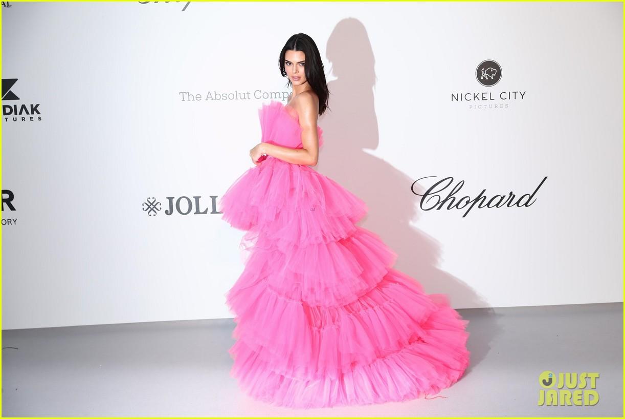 kendall jenner poofy pink dress amfar gala cannes 06