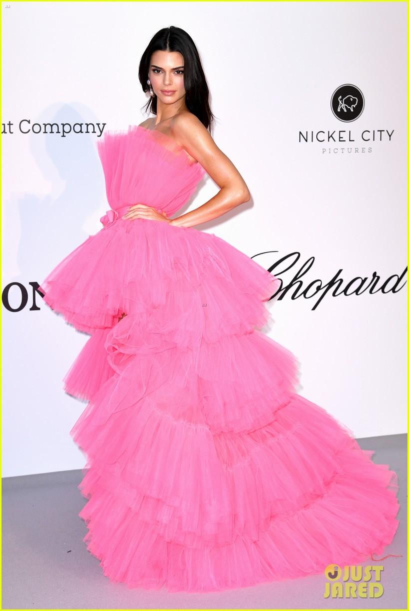 kendall jenner poofy pink dress amfar gala cannes 08
