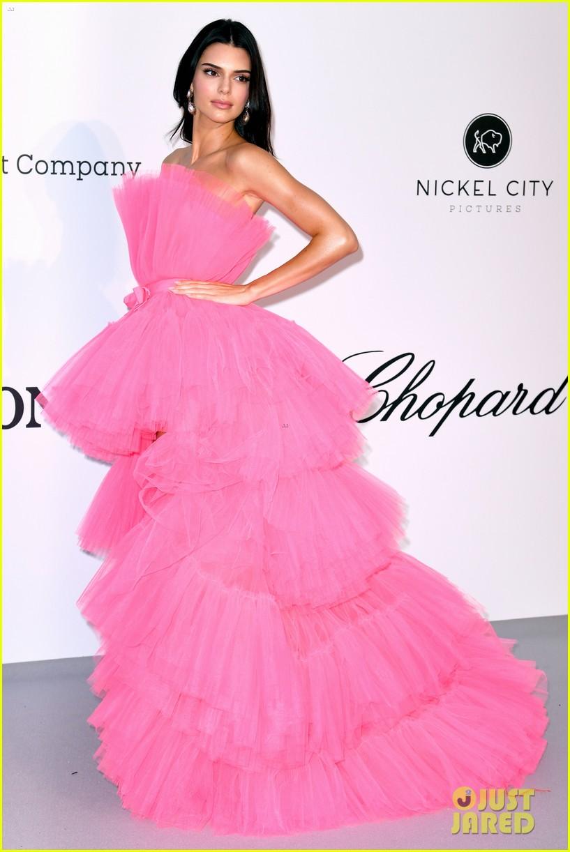 kendall jenner poofy pink dress amfar gala cannes 09