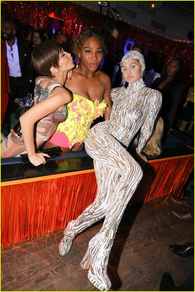 kim kardashian serena williams met gala after party 16