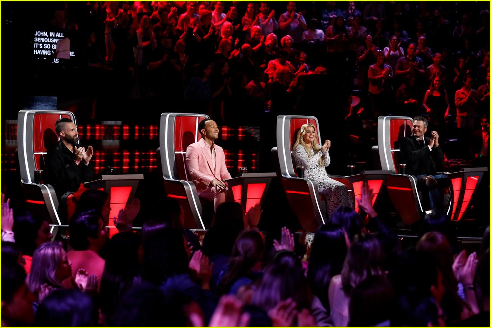 adam levine the voice coaches react 18