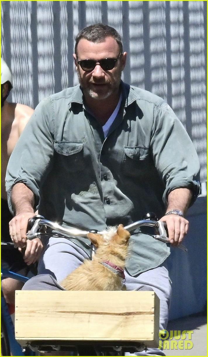 Liev Schreiber & Girlfriend Taylor Neisen Take a Bike Ride ...