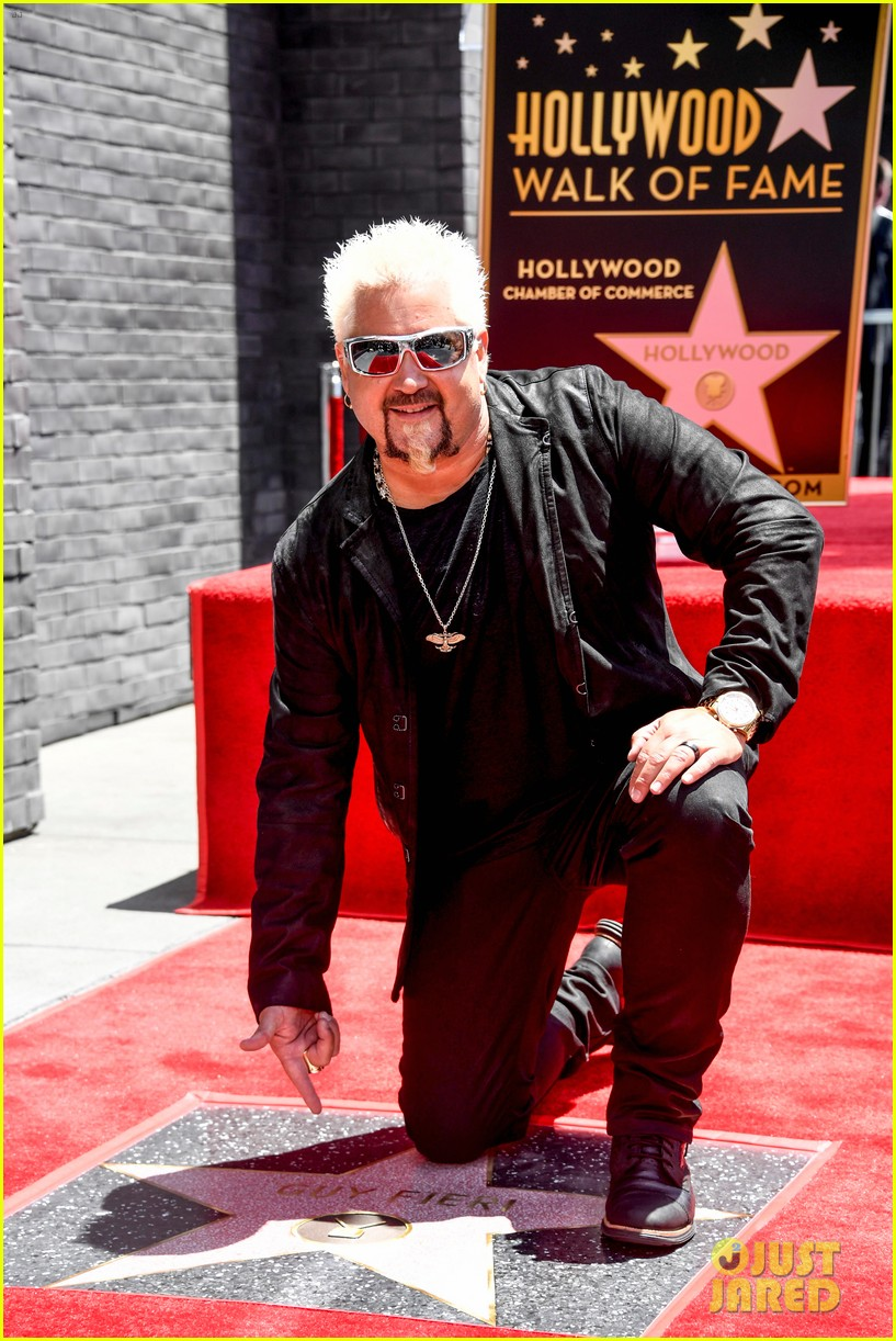matthew mcconaughey helps present guy fieri with star on hollywood walk of fame 01