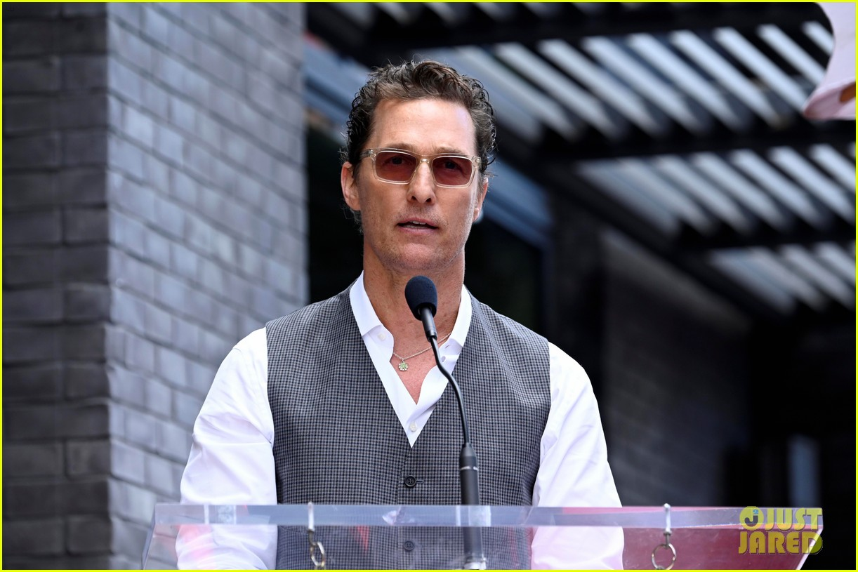 matthew mcconaughey helps present guy fieri with star on hollywood walk of fame 05