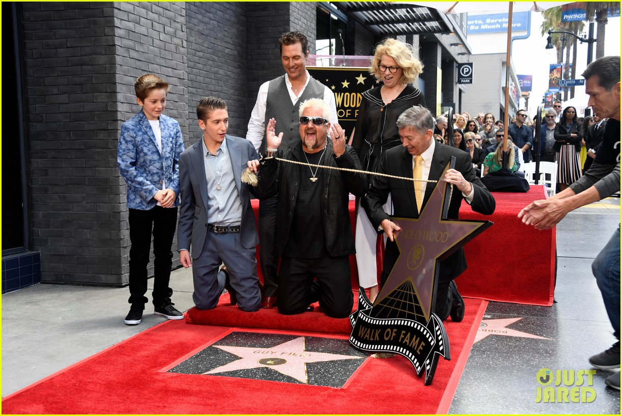 matthew mcconaughey helps present guy fieri with star on hollywood walk of fame 06
