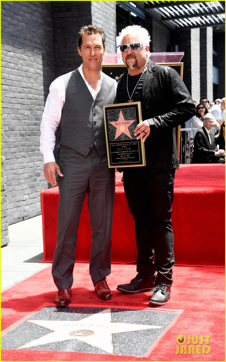 matthew mcconaughey helps present guy fieri with star on hollywood walk of fame 09