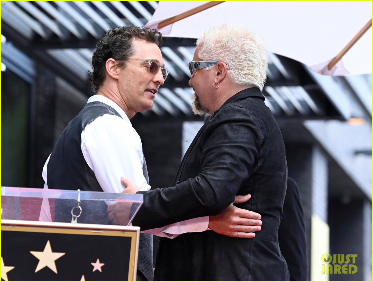 matthew mcconaughey helps present guy fieri with star on hollywood walk of fame 13