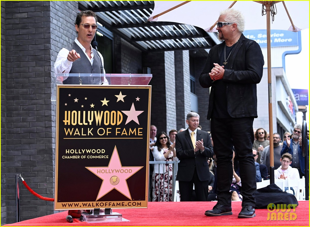 matthew mcconaughey helps present guy fieri with star on hollywood walk of fame 14