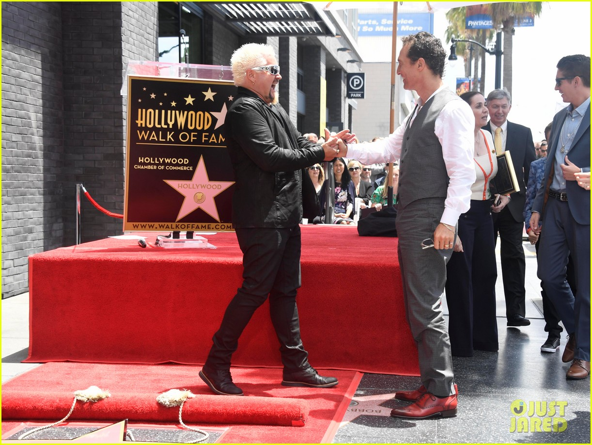 matthew mcconaughey helps present guy fieri with star on hollywood walk of fame 15