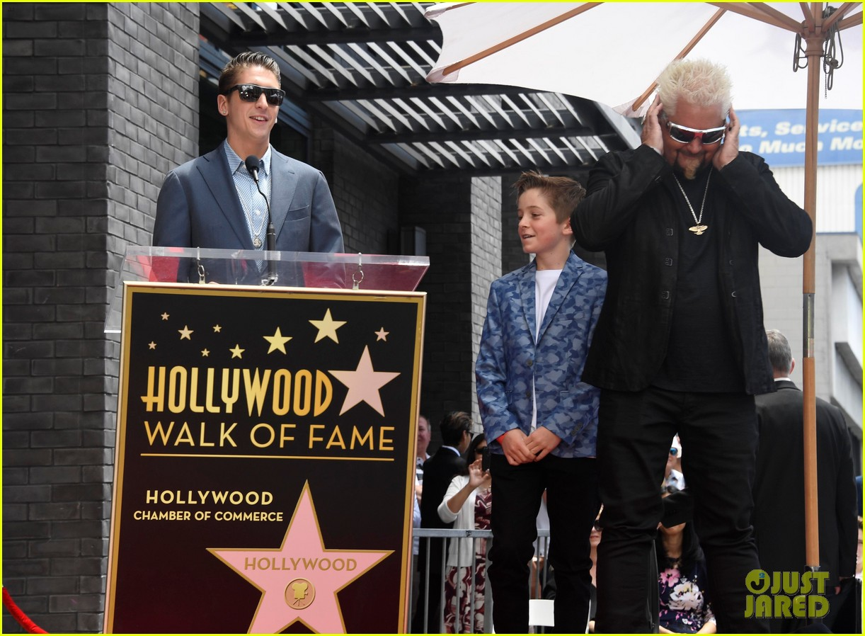 matthew mcconaughey helps present guy fieri with star on hollywood walk of fame 21
