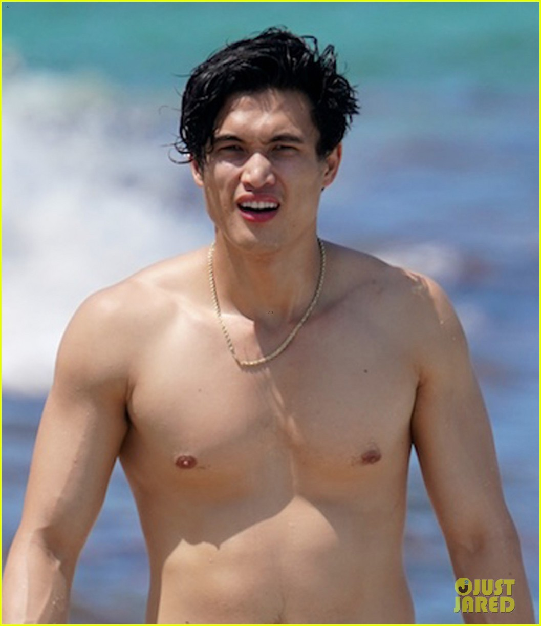 charles melton shirtless in miami 034289611