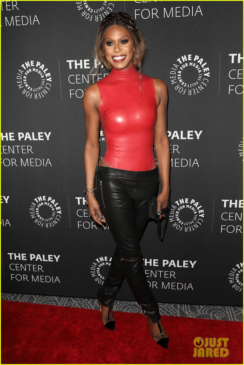 debra messing matt bomer laverne cox attend paley honors lgbtq gala 014292133