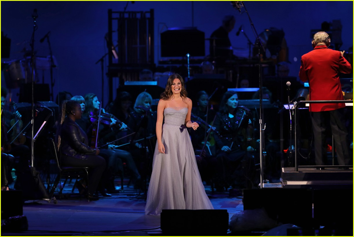 lea michele performs in little mermaid 054295446