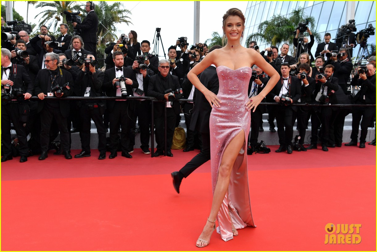 camila morrone supports leonardo dicaprio at once upon a time in hollywood cannes 14