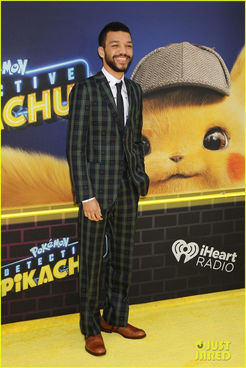 kathryn newton justice smith yellow carpet detective pikachu premiere 03