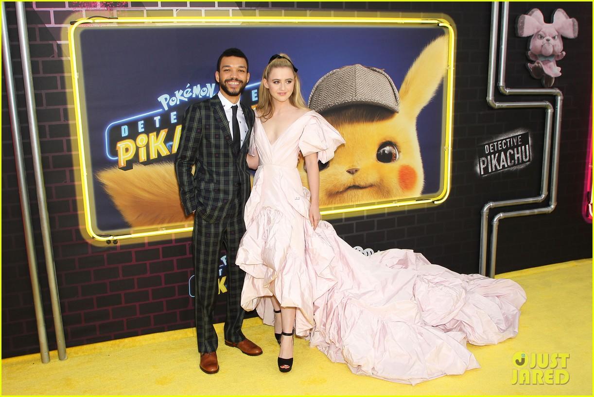 kathryn newton justice smith yellow carpet detective pikachu premiere 05