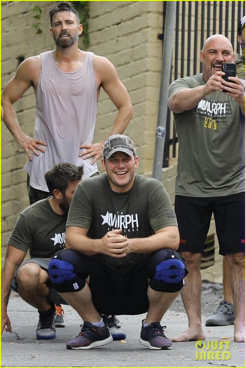 chris pratt works up a sweat during boot camp workout 01