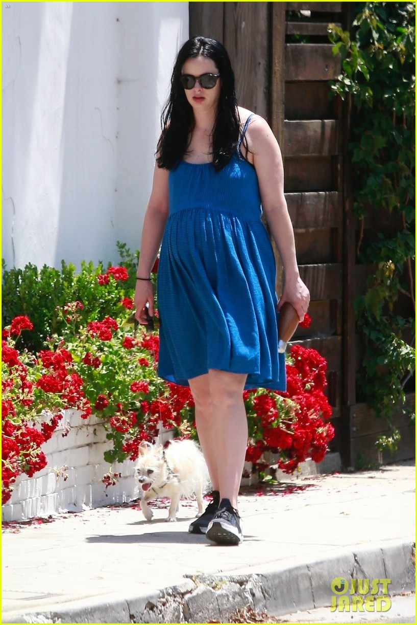 Pregnant Krysten Ritter Takes Her Dog for a Walk in L.A ...