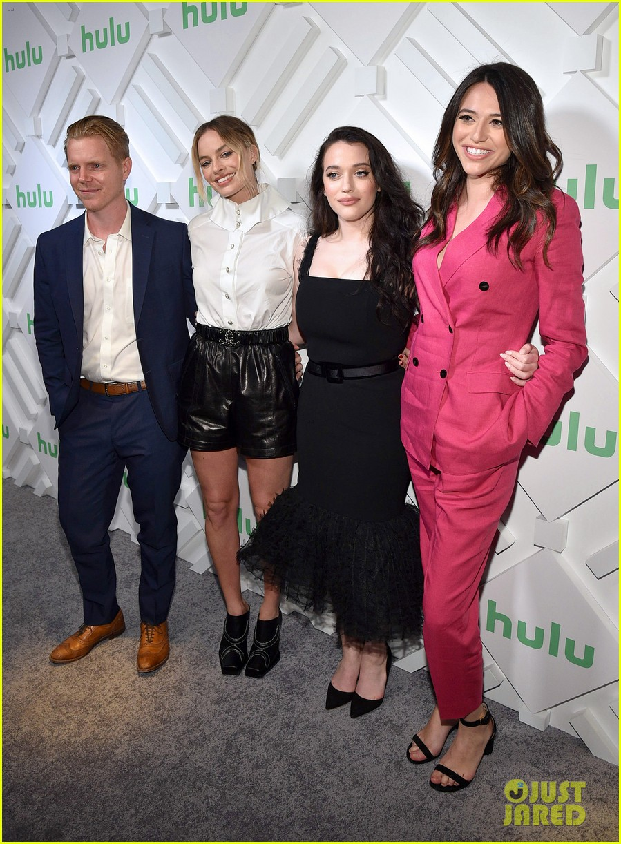 margot robbie and kat dennings talk dollface at hulu upfronts 014280418