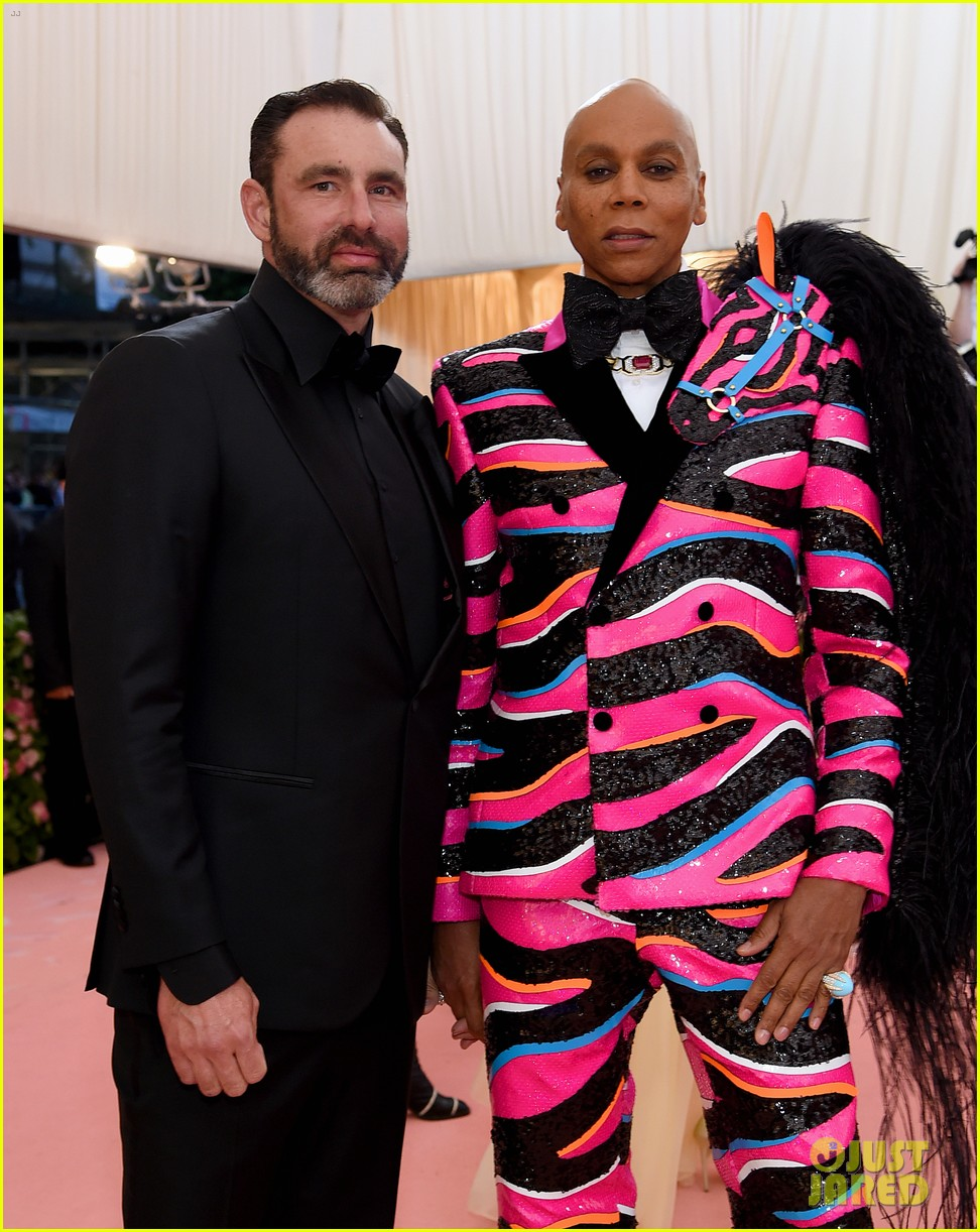 RuPaul is Joined by Husband Georges LeBar at Met Gala 2019
