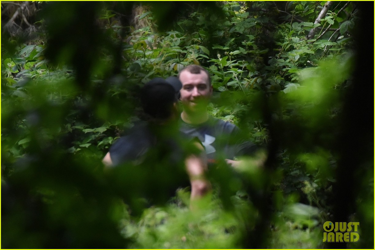 sam smith goes for a hike with trainer 24