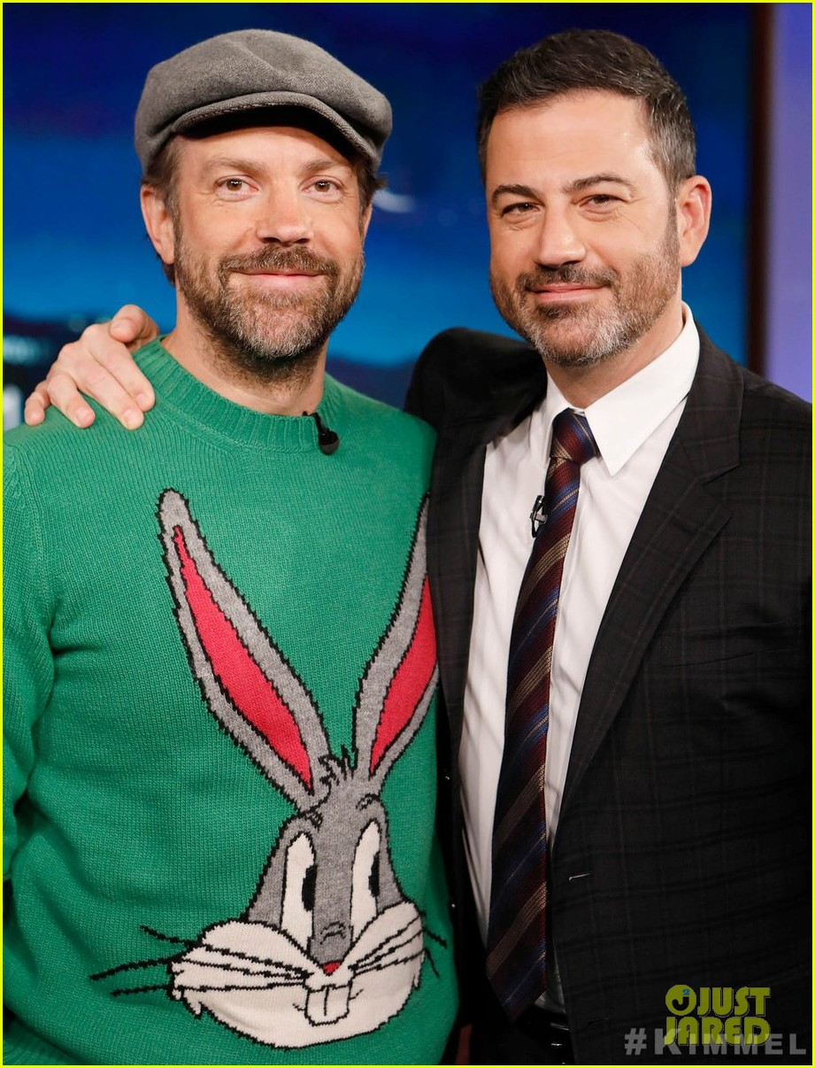 jason sudeikis talks long engagement to olivia wilde on jimmy kimmel 01