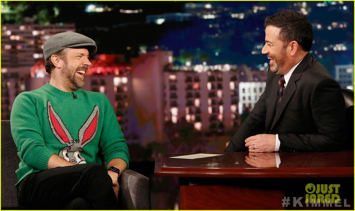 jason sudeikis talks long engagement to olivia wilde on jimmy kimmel 02