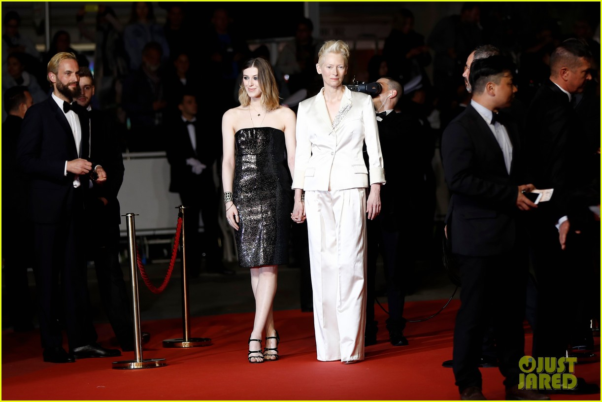 tilda swinton daughter honor parasite screening cannes film festival 06