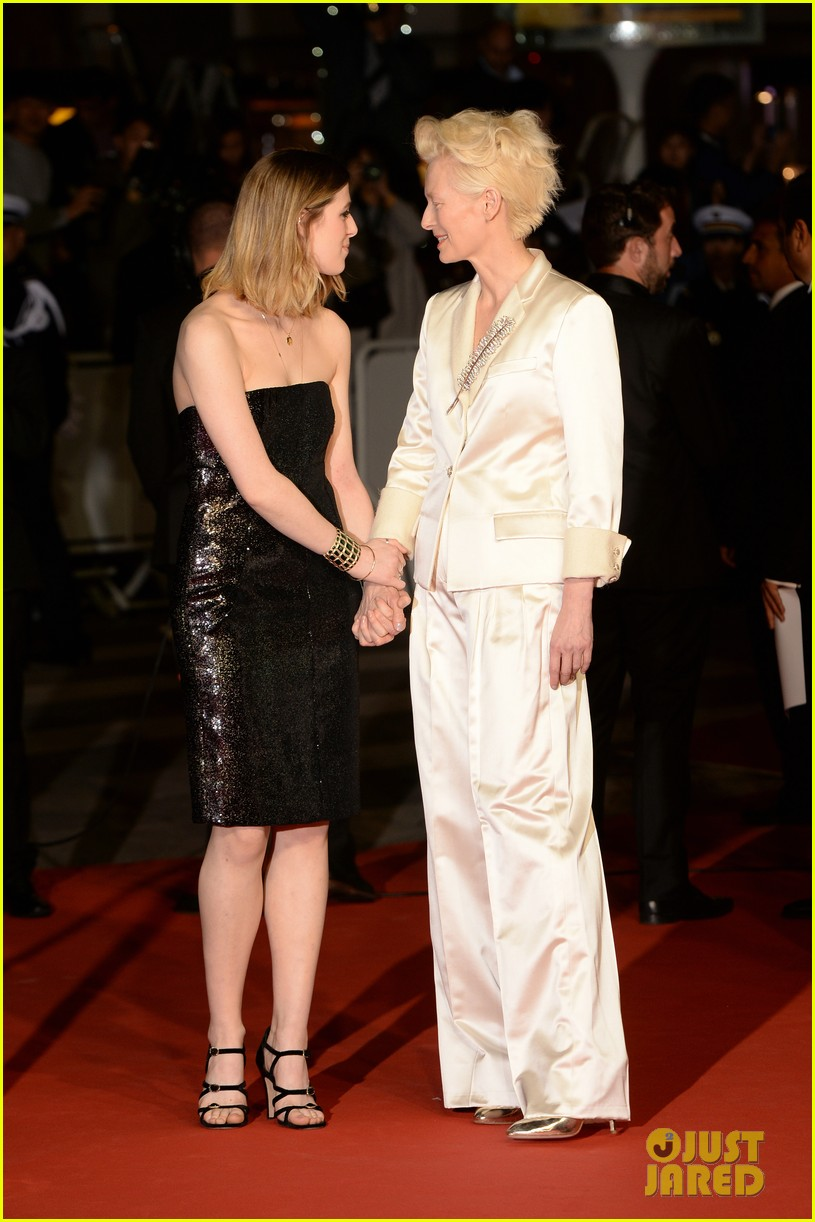 tilda swinton daughter honor parasite screening cannes film festival 07