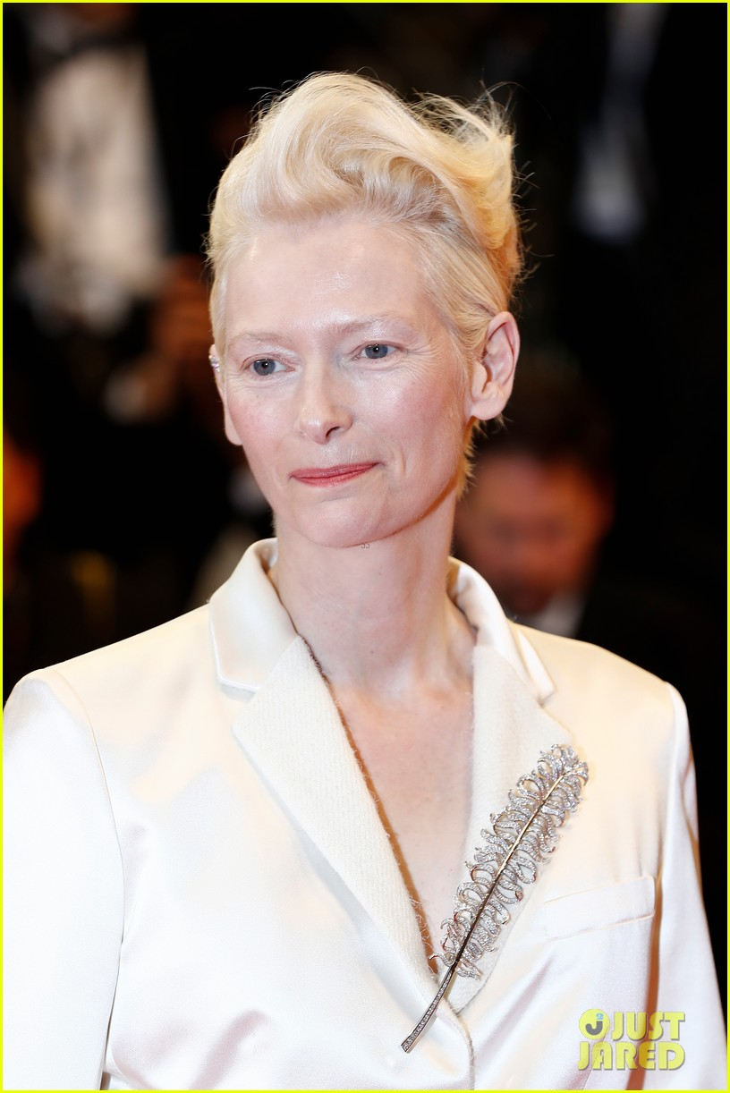 tilda swinton daughter honor parasite screening cannes film festival 08