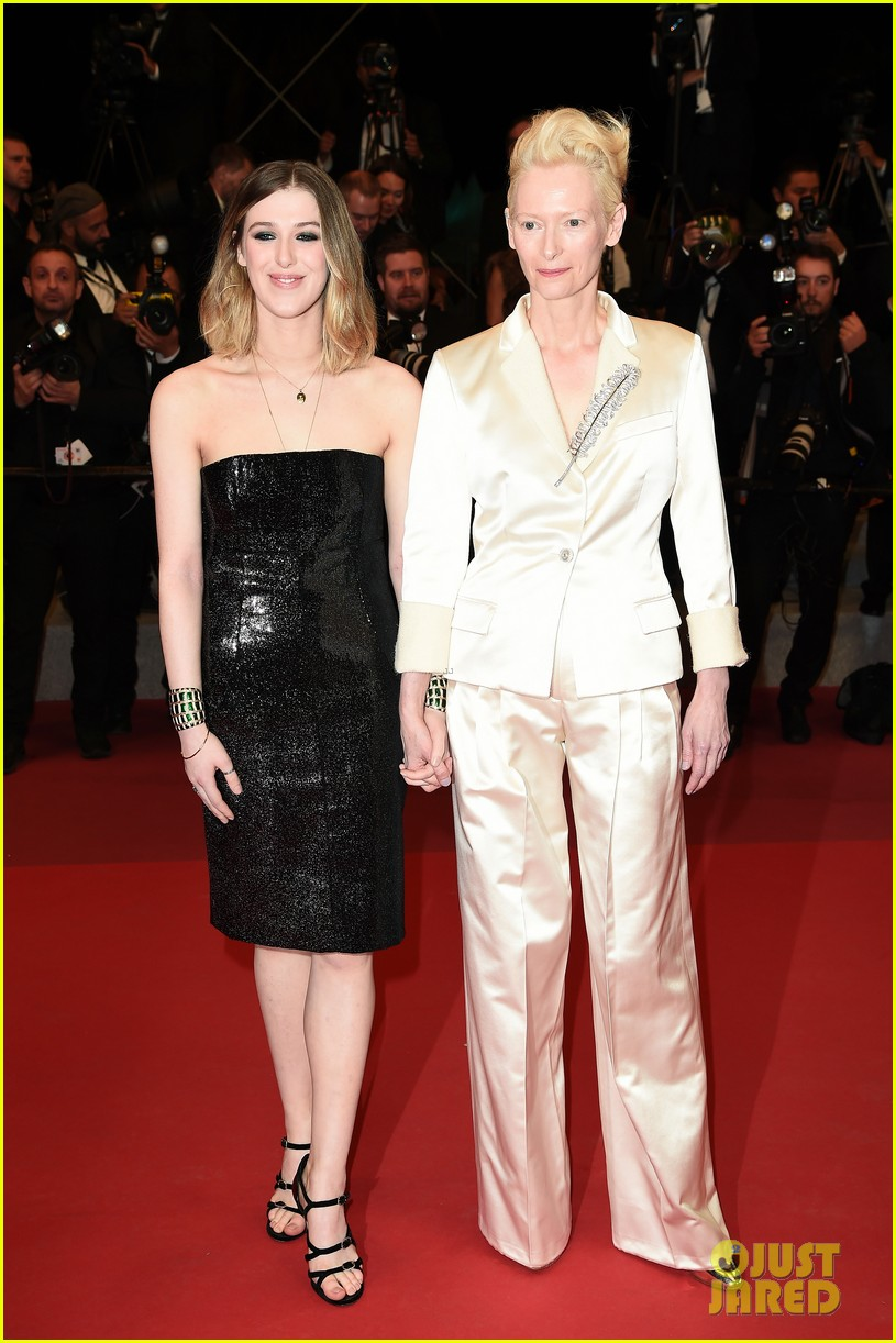 tilda swinton daughter honor parasite screening cannes film festival 10
