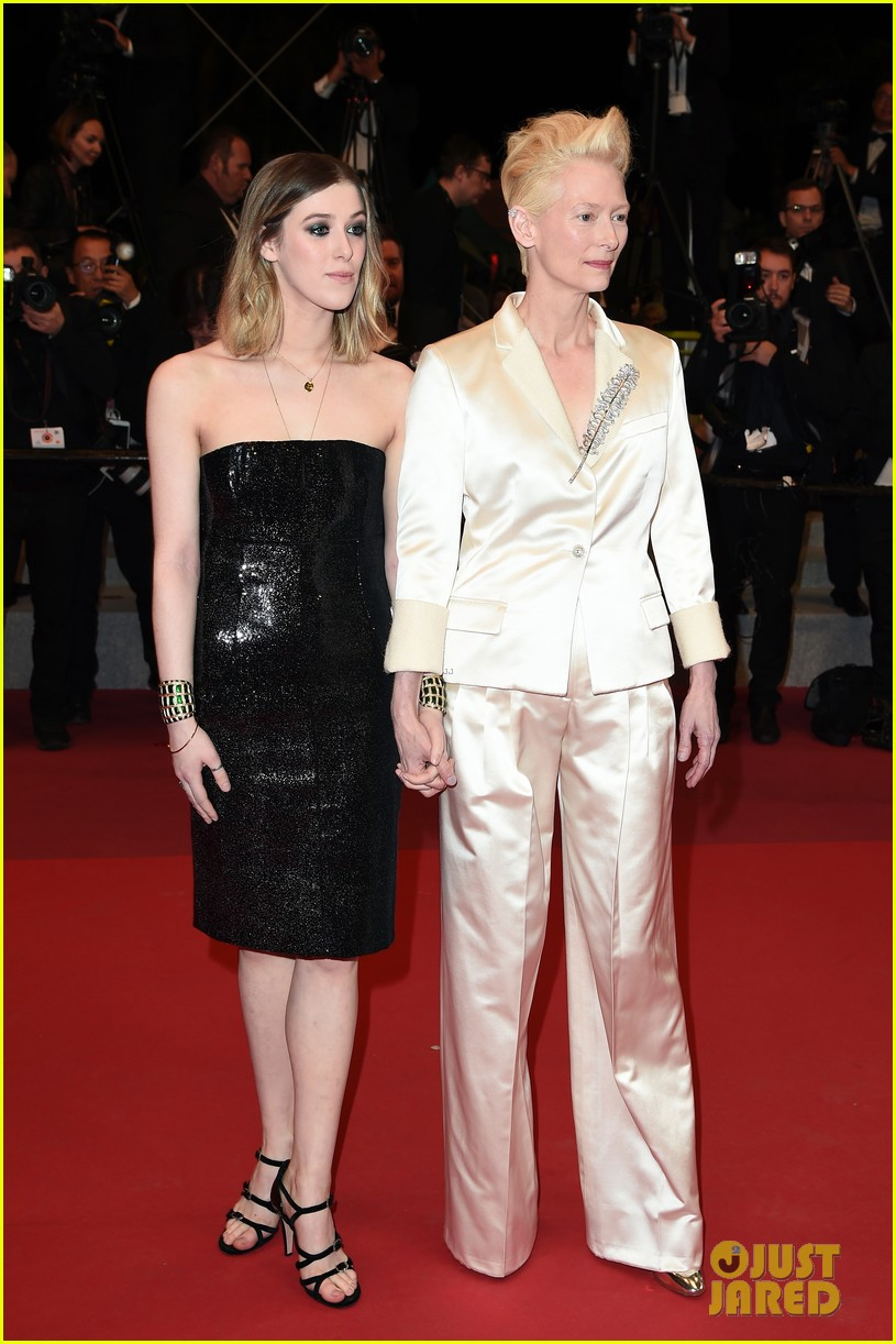 tilda swinton daughter honor parasite screening cannes film festival 11