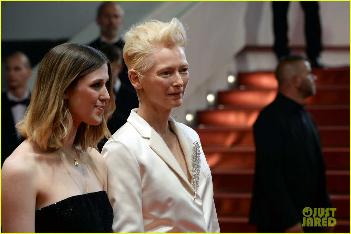 tilda swinton daughter honor parasite screening cannes film festival 12