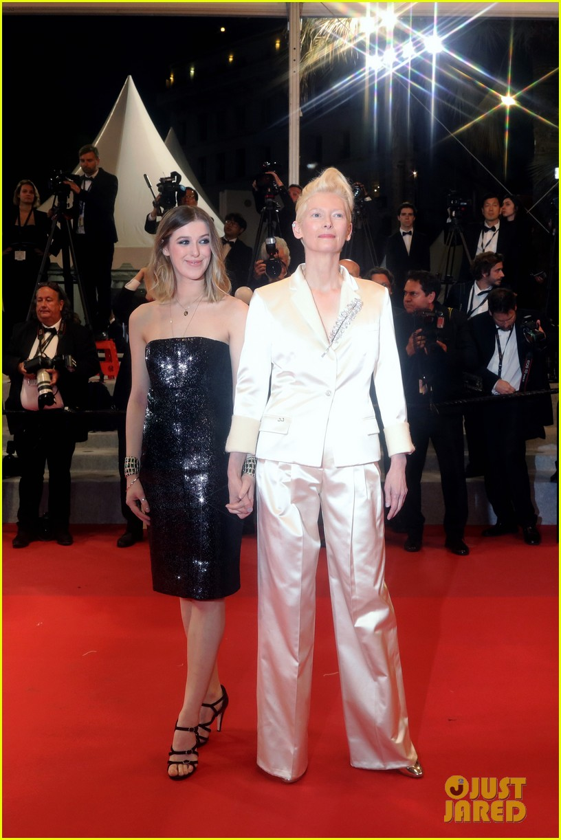 tilda swinton daughter honor parasite screening cannes film festival 13