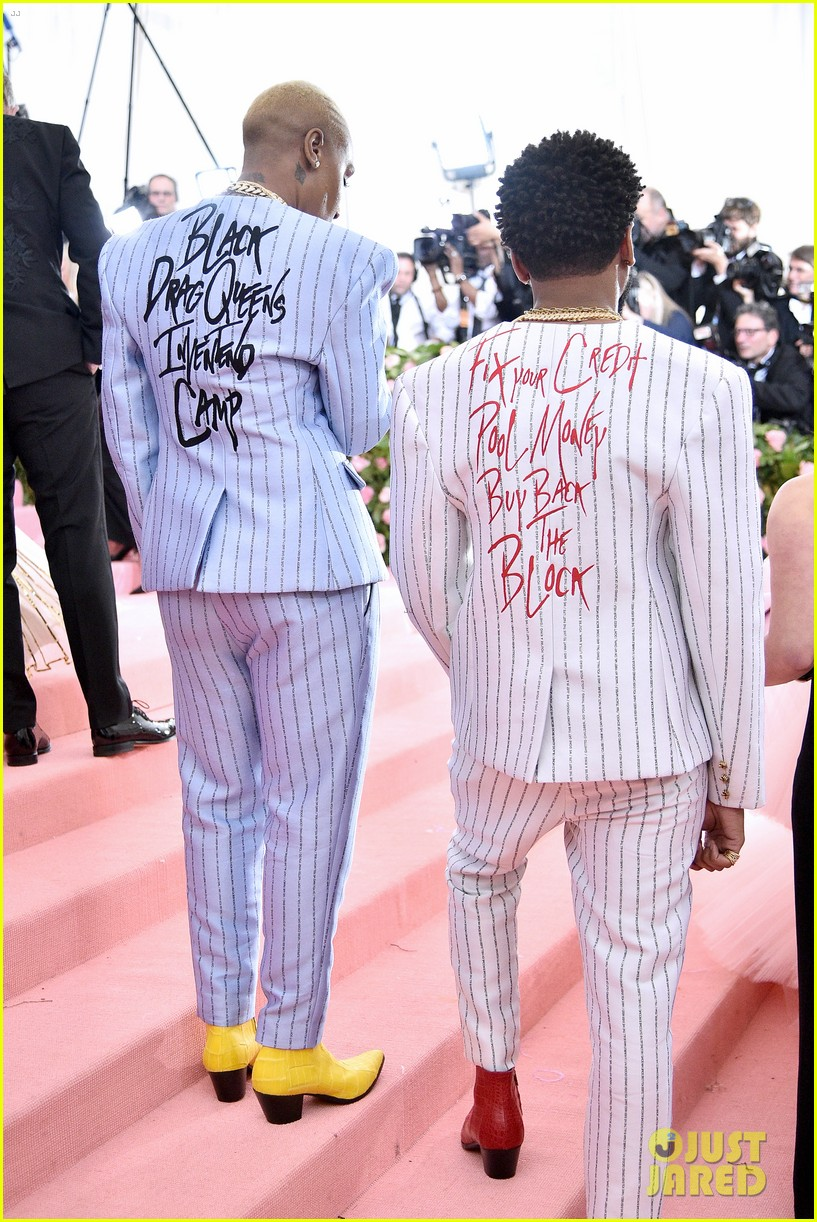 lena waithe message on back of suit met gala 05