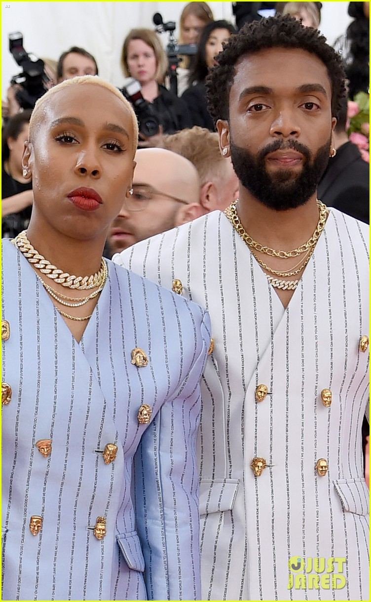 lena waithe message on back of suit met gala 07