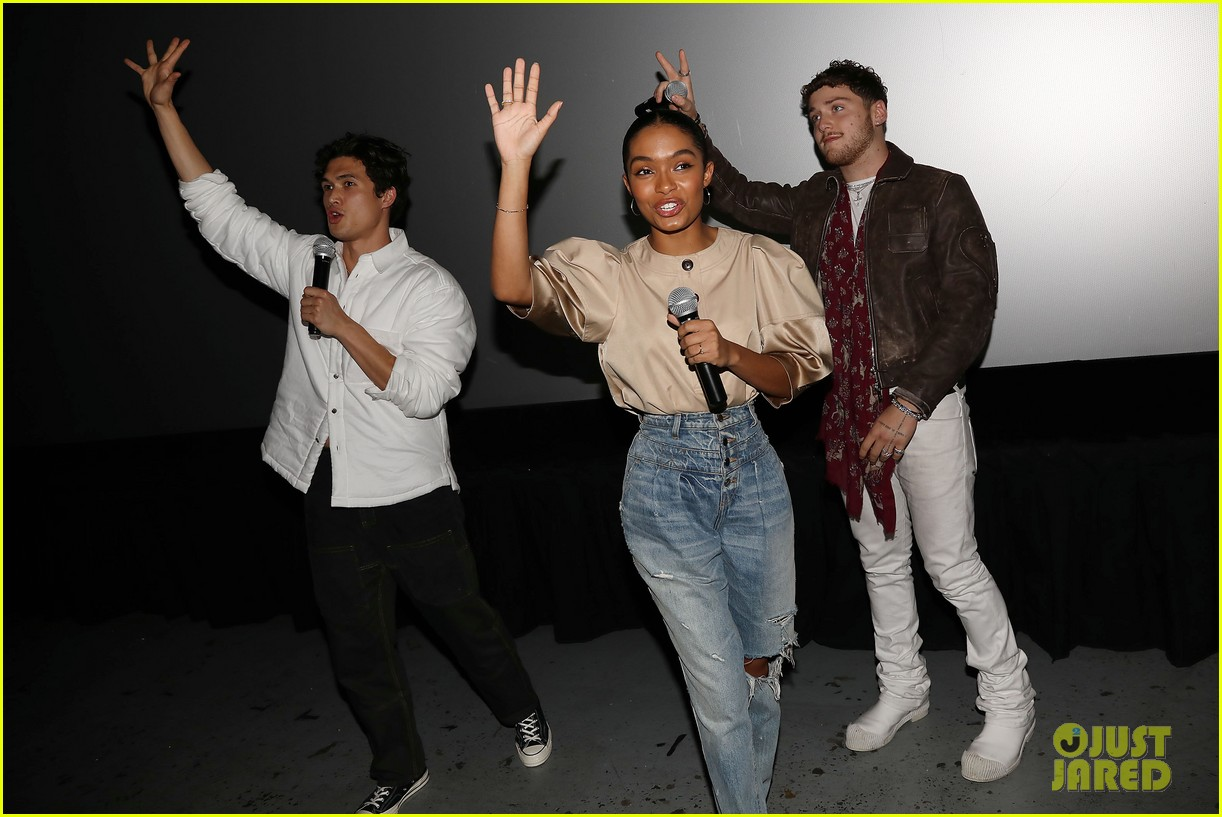 yara shahidi charles melton sun fan screening nyc 03