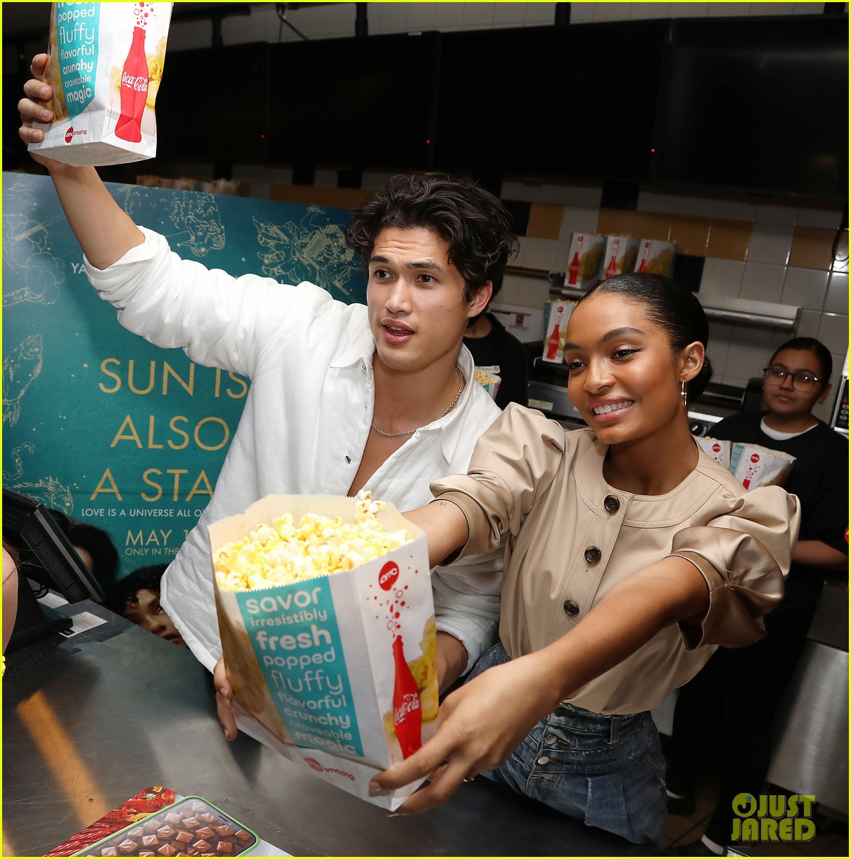 yara shahidi charles melton sun fan screening nyc 04